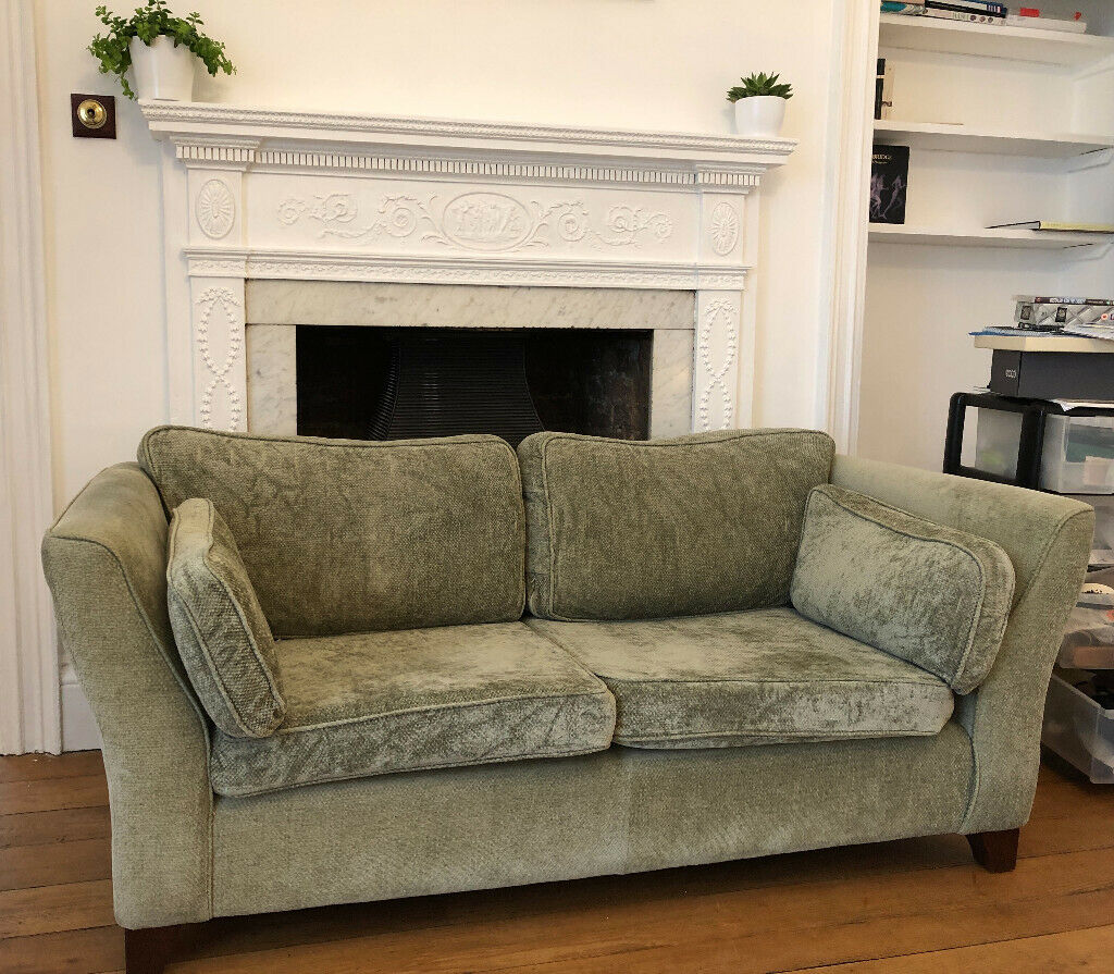 Moss Green Laura Ashley Sofa - well cared for and comfortable | in Topsham,  Devon | Gumtree