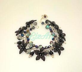 Handmade Elegant Bracelet Monochrome Black for Christmas New Year Party
