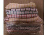 WHOLESALE 100% Cotton Kitchen Tea Towels/ Dishcloths 18 DOZEN 1 BOX