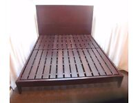 KING SIZE SOLID ROSEWOOD BED FRAME