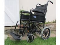 Invacare Ben NG Attendant Propelled wheelchair, mobility, foldable, detachable footrests & armrests