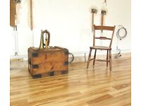 Vintage Stained Pine Trunk / Coffee Table / Storage Chest