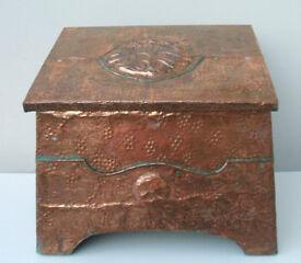 Arts and Crafts Copper Coal/wood Box