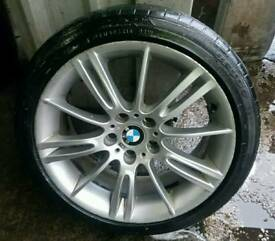 Genuine 5×120 MV3 ALLOY wheels with good tyres all round