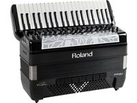 Roland FR-8X 120-bass Black Piano Accordion Lightly Used Fully Working & Accessories