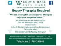 BEAUTY THERAPIST REQUIRED