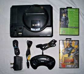 sega megadrive 1 with controller and games!!!