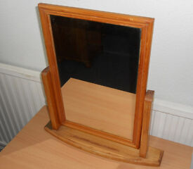 Small Dressing Table or Bathroom Pine Swivel Mirror - to paint