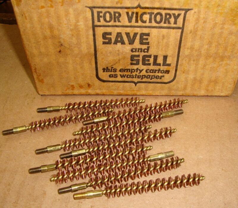 10ea .30 Cal Unissued WW2 USGI Brass Bore Cleaning Brushes for M1 Garand 1903