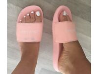 Calvin Klein coral sliders UK size 7