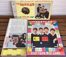 THE BEATLES -FLIP YOUR WIG- ORIGINAL 1964 MB MILTON BRADLEY BOARD GAME -BOXED-