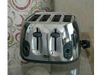 Kettle, 4 Slice Toaster, Bread Bin & Cannisters