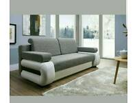 New sofa bed with storage Tigra, Amk Furniture ,Double bed Polskie sofy