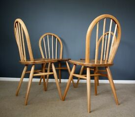 Stunning Vintage Ercol Windsor Dining Chairs 50s 60s