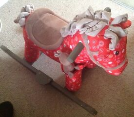 RED 'DOODLE & CRUMB' ROCKING HORSE - great condition!