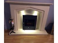 Marble fireplace with Led down lights