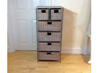 Wicker drawers draws (tall height 104cm)