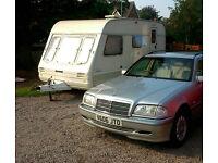 Mercedes C class 220, with 3 berth caravan £2750