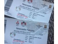 2 x Gloucester Rugby vs Newcastle Falcons tickets (Sat 3rd March @ 15:00)
