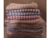 Cheap and Chearfull Checked 100% Cotton Kitchen Tea Towels/ Dishcloths