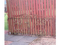 Wrought Iron Driveway Double Gates