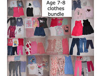 Age 7-8 Girl's Clothes - HUGE Bundle - 64 items - full year-round wardrobe