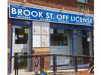 Off License Shop (stock included) for sale