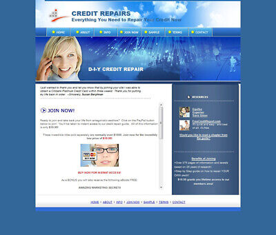 Profitable Credit Repair Turnkey Niche Website Business For Sale