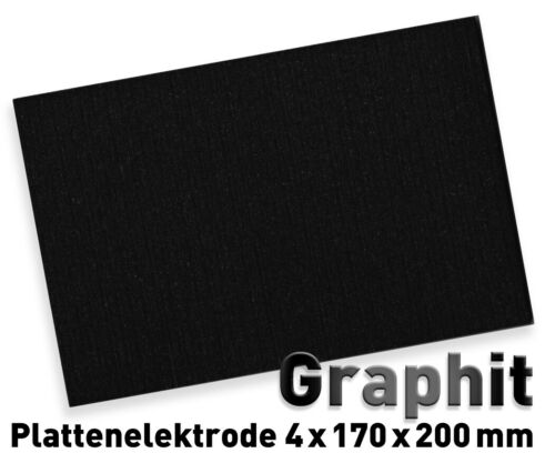 Graphitplatte 170 x 200 mm Graphitelektrode Graphit Elektrode Anode Graphitanode