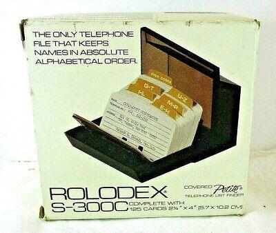Vintage 1981 Rolodex S300C Flip Petite Address Telephone Index NOS Beige Plastic comprar usado  Enviando para Brazil