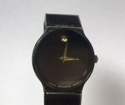 Ladies Movado Museum Wrist Watch 84.C6.881.2A Black Face Stainless Steel