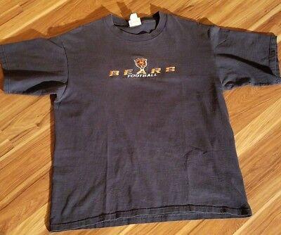 Retro Blue Chicago Bears NFL Football Short Sleeve T-Shirt.  Men's Size L