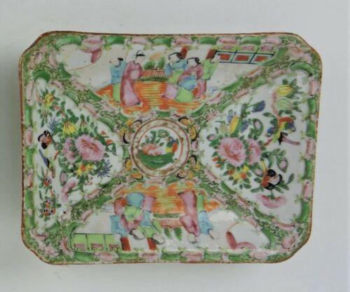 19thC CHINESE CELADON PORCELAIN * Famille Rose Medallion * SERVING PLATTER DISH