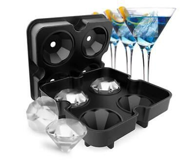 Ice Cube Tray Halloween Party Mold Silicone Whiskey 3D Diamond Mould Bar FDA