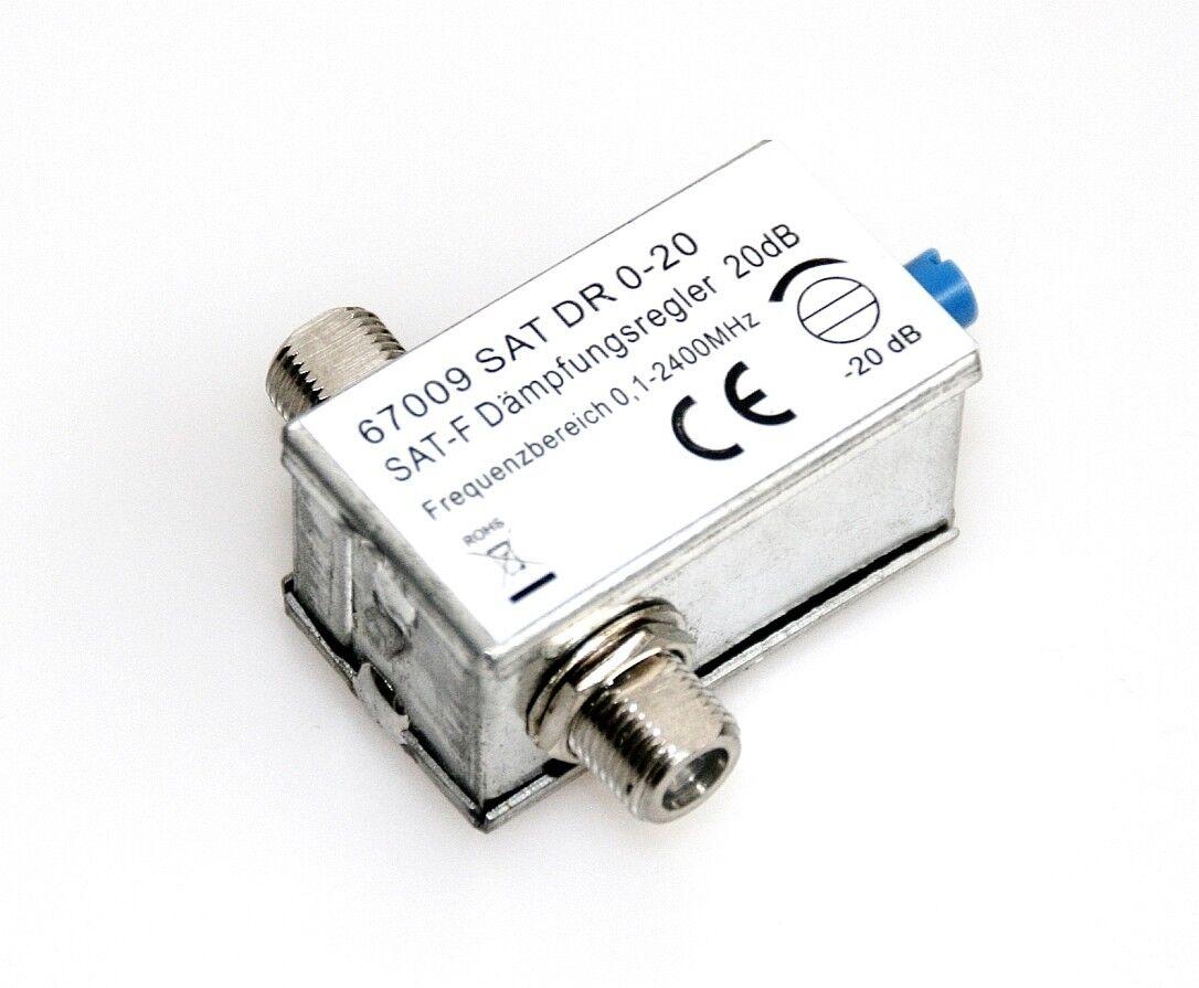 SAT DVB Dämpfungsregler Pegelsteller Signal-Abschwächer 0-20 dB Dämpfungsglied