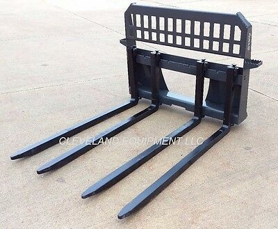 New Block Forks Frame Attachment Skid-steer Track Loader Cinder Brick John Deere