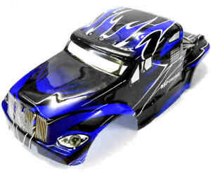 88034 RC 1/10 Scale Monster Truck Body Shell Cover HSP Blue V5 Cut Narrow