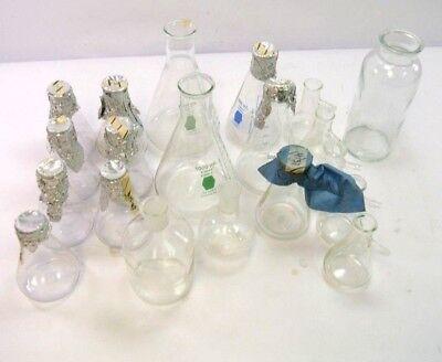 20 Pc Lab Glass Set Aspirators Bottles Flasks Jar. 250ml 500ml 1000ml