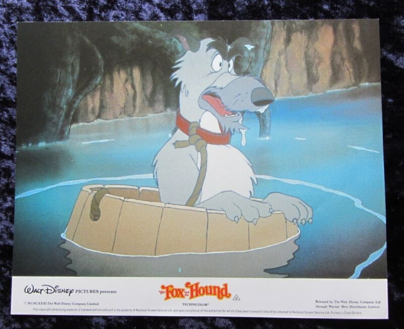 THE FOX and the HOUND lobby card #6 WALT DISNEY mini uk card - 8 x 10 inches