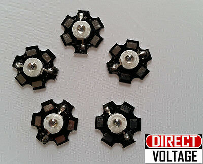 5pcs 1.8v - 2.2v 700ma 850nm Infrared Ir Led With 20mm Star Bead --visible