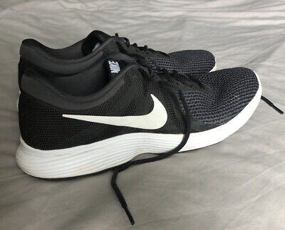 Nike Mens Trainers Size 10.5 Black With White Ticks