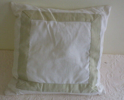 Barbara Barry Decorative Pillow Sateen Band Ivory 16