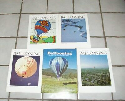 1979 Ballooning Magazine Publication 5 Issues Don Piccard