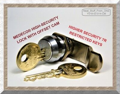 Medeco Lock High-security Offset-cam Lock With Two Restricted Keys
