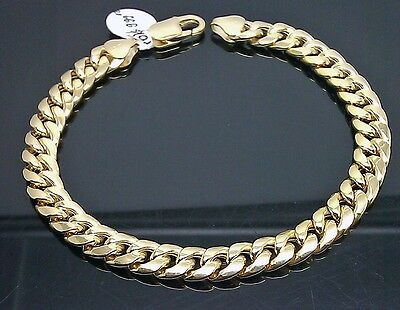 10K Yellow Gold Miami Cuban Bracelet 6mm, Franco, Link 9inch