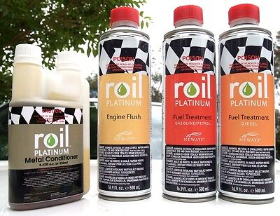Roil Platinum: METAL CONDITIONER | ENGINE FLUSH | FUEL TREATMENT