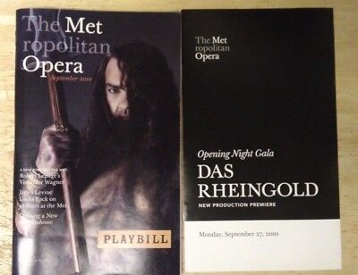 New York Metropolitan Opera Wagner Das Rheingold Playbill - Opening Night Gala