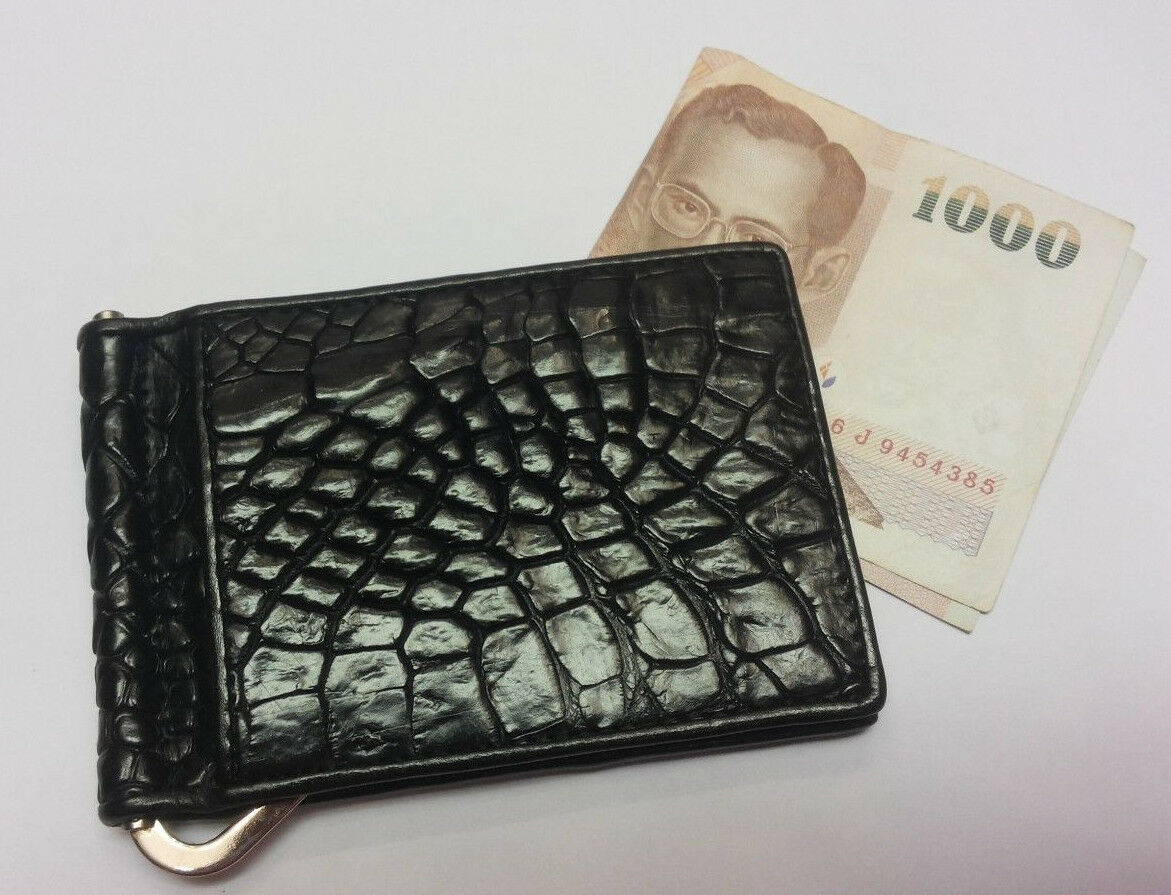 Money Clips Genuine Crocodile Wallets Alligator Skin