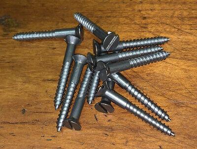 """Wood Screws Flat Head Slotted Steel #4 X 3//8"""" WS438"""