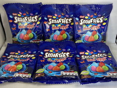 6x Nestle Smarties Mini Eggs 80g Bag Easter Gift Idea Kids Quick Postage
